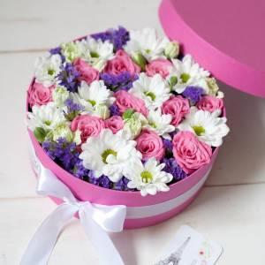 Сборная коробка хризантемы и розы R1135